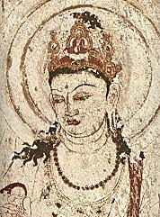 法隆寺金堂壁画6号壁觀音頭部