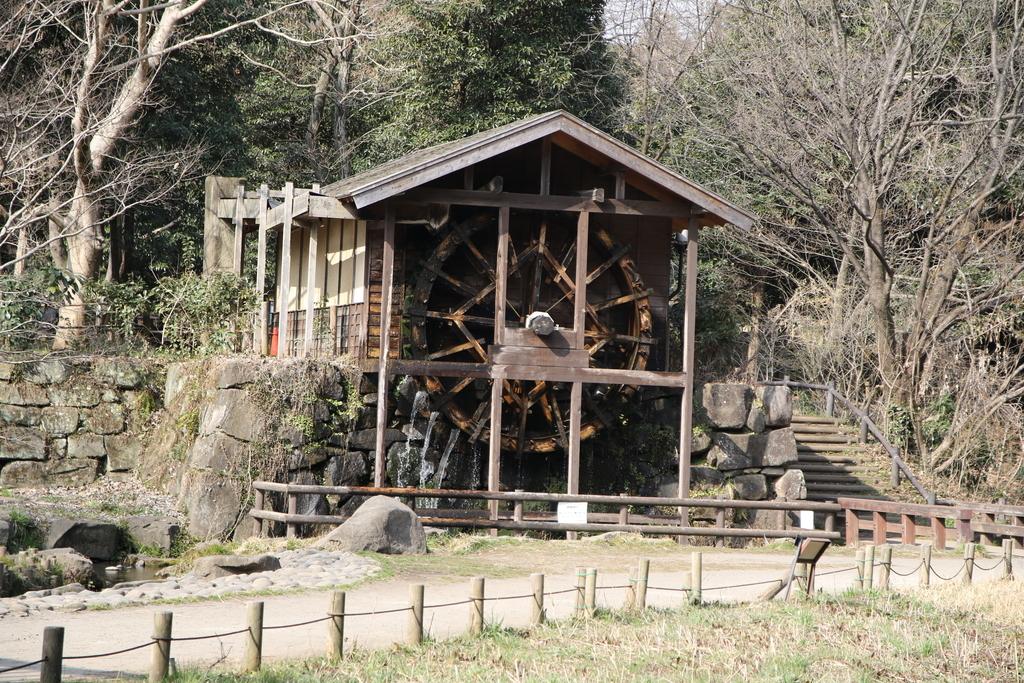 水車と日本最初の木製の斜張橋「緑のかけ橋」_2