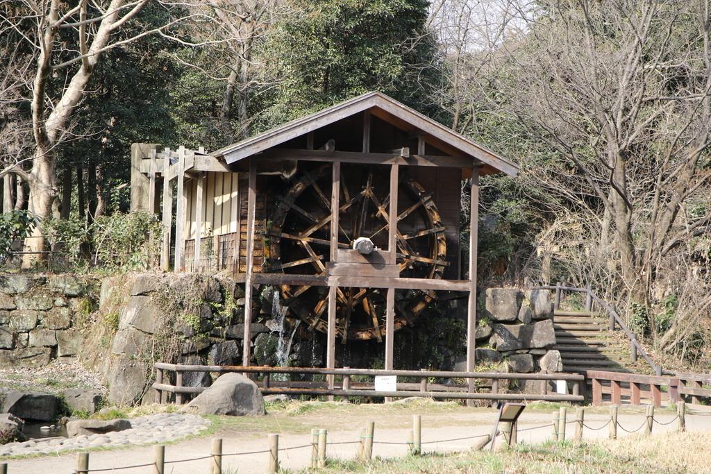 水車と日本最初の木製の斜張橋「緑のかけ橋」_3