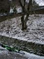 180310ロープウェイ駅への激坂クライムは凍結で断念