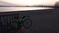 180303近江大橋の夜明け