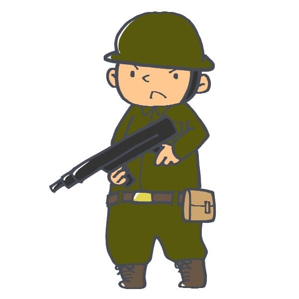 銃 ピストル 兵士