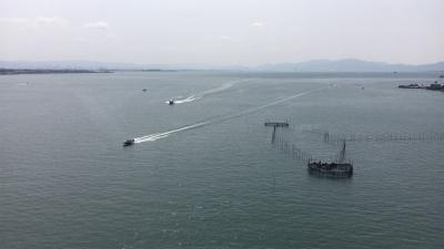 琵琶湖大橋最頂部から眺めた南湖 4Kムービー.