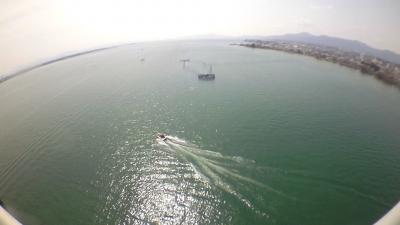 琵琶湖大橋最頂部から眺めた南湖 アクションカムムービー