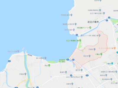 琵琶湖北湖南津田湖岸