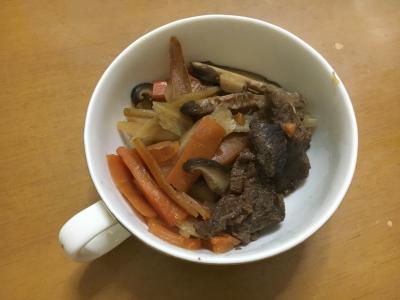 できあがり!! 美味しそうな猪肉のしぐれ煮です