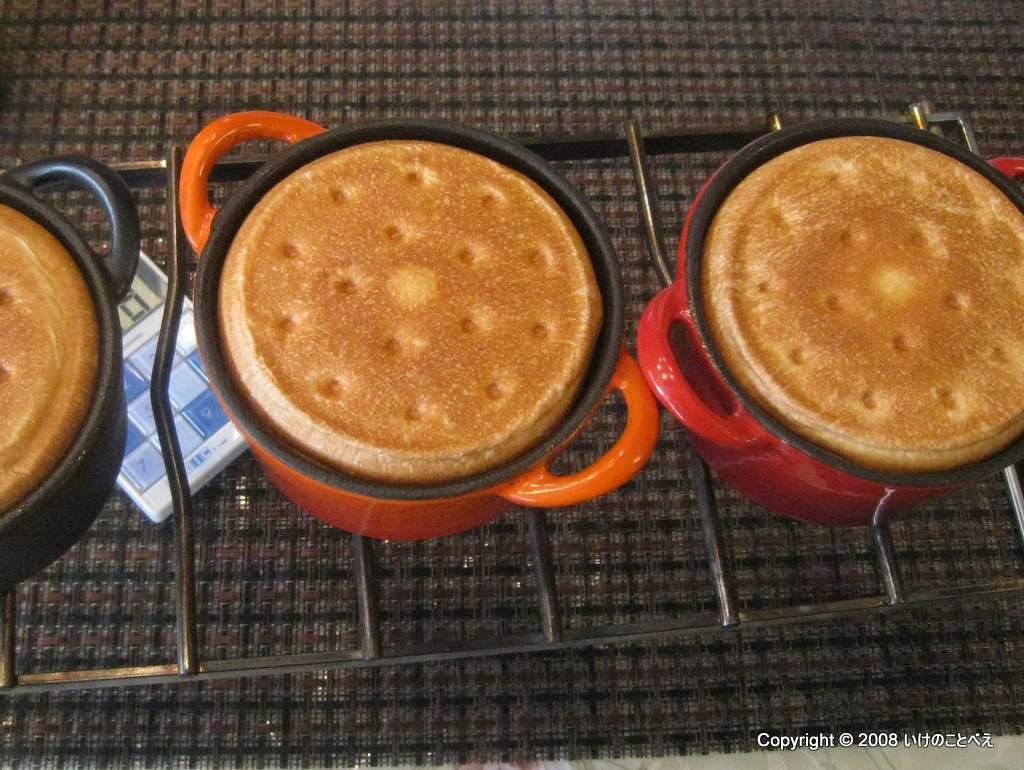 ココット食パンとハムロールちぎりパン