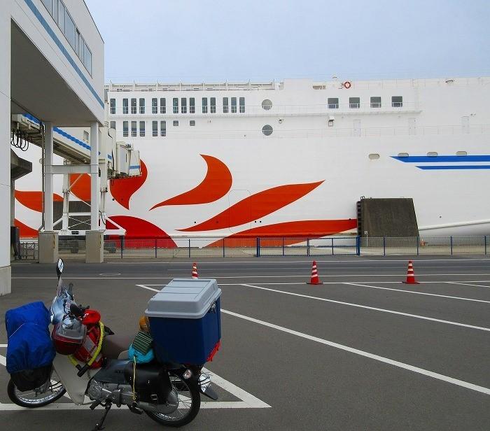 2017 北海道一周 スーパーカブの旅1~2日目 大洗フェリーターミナル~苫小牧上陸