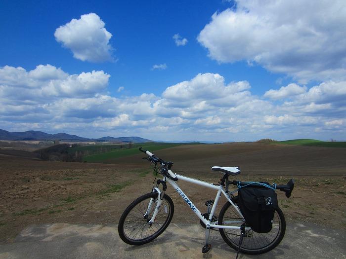2014 北海道 車中泊の旅 6日目  美瑛 パッチワークの路 自転車 サイクリング
