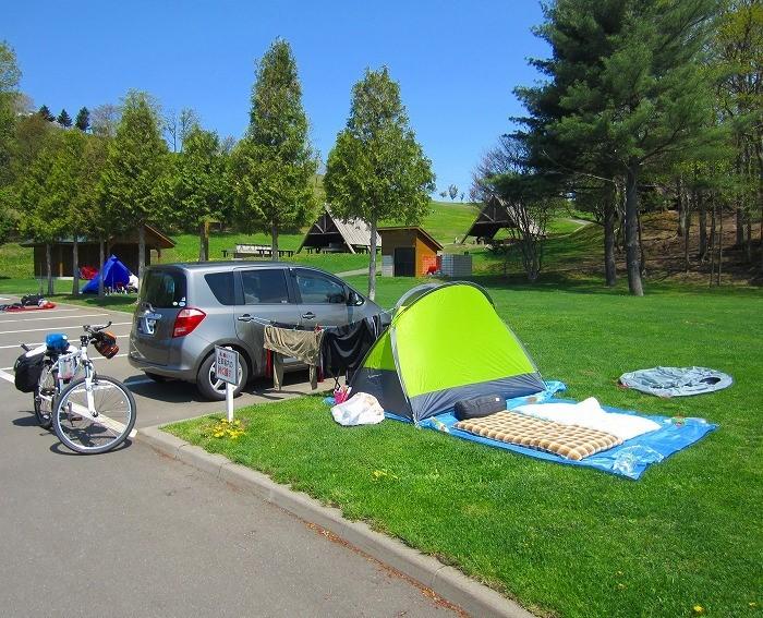 2014 北海道 車中泊の旅 20日目-1 中富良野町~富良野市 サイクリング