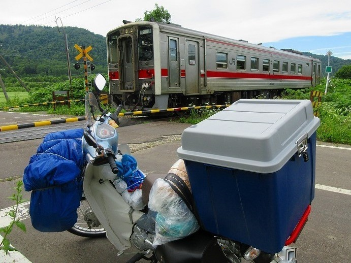 北海道 旅行  スーパーカブの旅 26日目-2 名寄市~天塩川リバーサイドキャンプ場