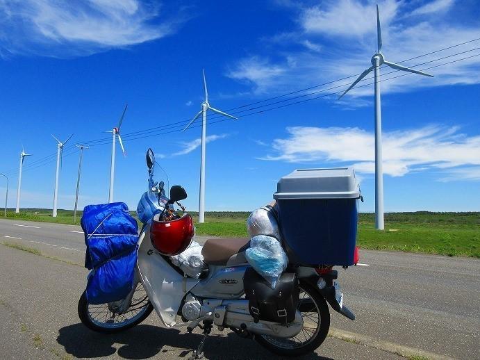 北海道 スーパーカブの旅 27日目-2   オロロンライン 道道106号