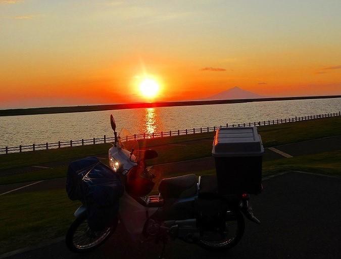 北海道 スーパーカブの旅 28日目-2 幌延町~鏡沼海浜公園キャンプ場