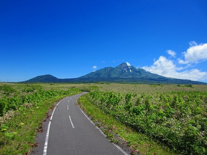 北海道の旅 47日目-1   利尻島 サイクリング  自転車一周