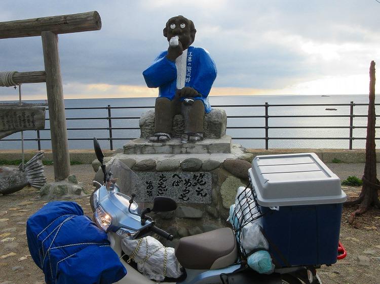 北海道 ツーリング スーパーカブの旅 35日目-2 島牧村~江差町~夷王山キャンプ場