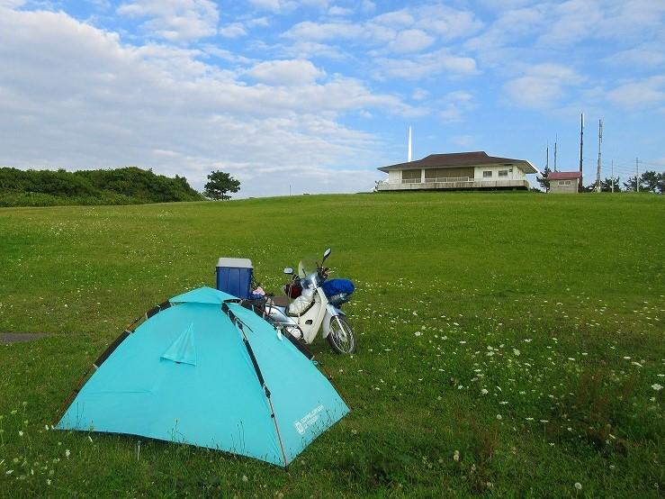 2017 北海道ツーリング スーパーカブの旅 50日目-2  せたな町~夷王山キャンプ場