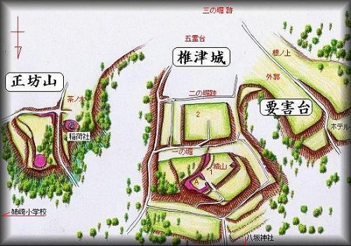 椎津城址縄張り図
