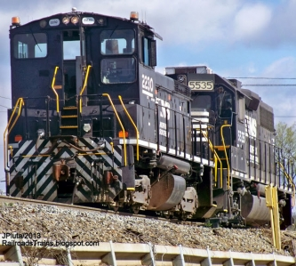 NS 2230 SW1500 NS 5535 GP38-2 EMD Locomotive Train Engine Norfolk Southern Railroad Brosnan Rail Yard Macon Georgia NS Freight Local Switchers