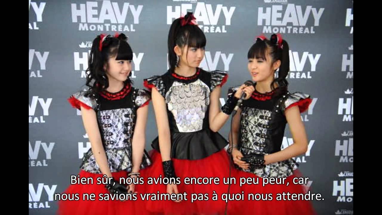 BABYMETALがヘビーモントリオール公演後に受けたインタビュー動画を紹介