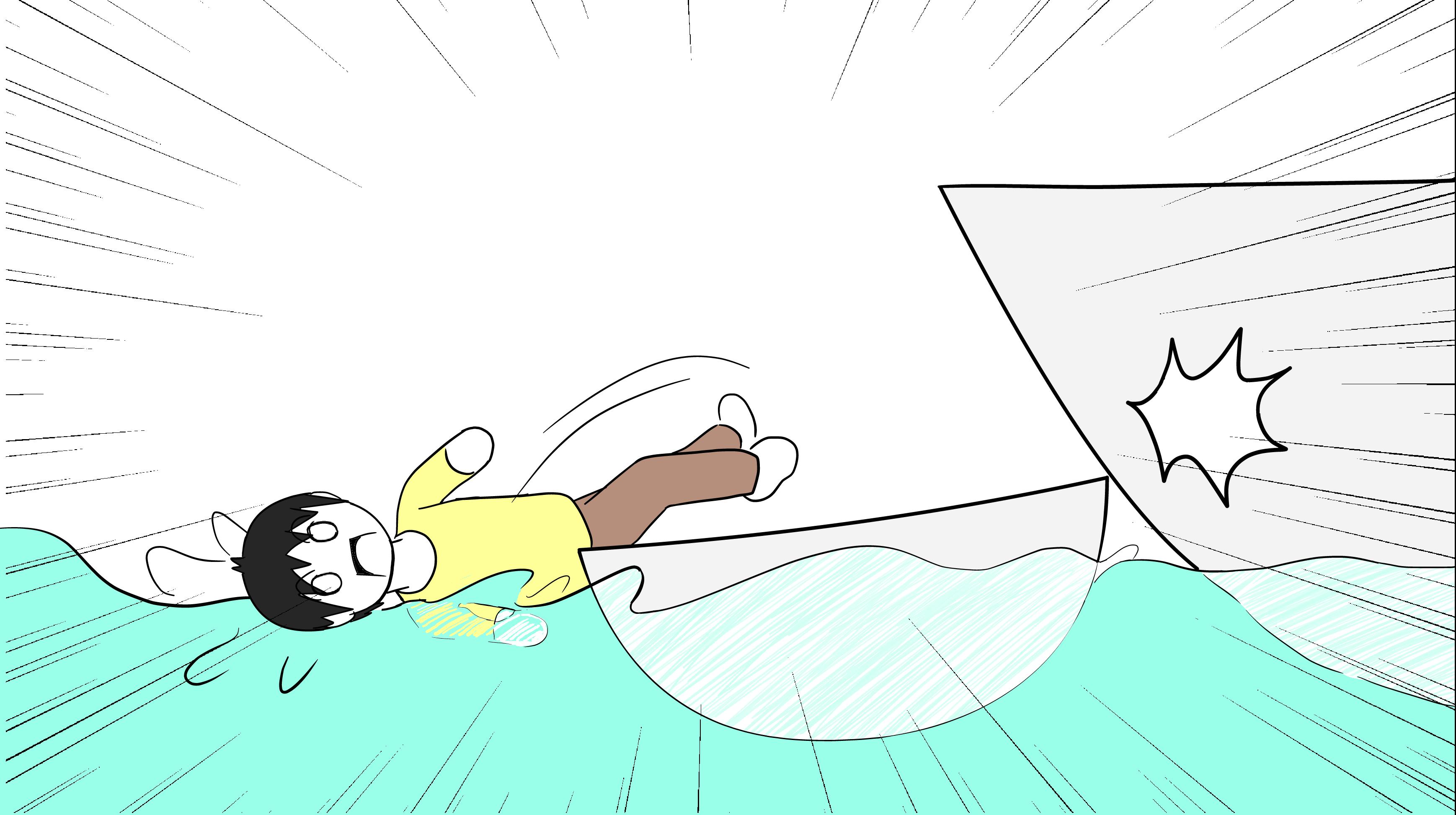 ライフジャケットの船衝突