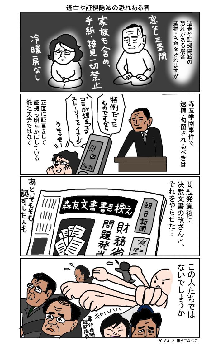 20180302財務省が森友学園書類改ざん