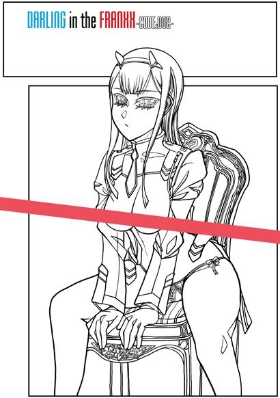 ダリフラC1☆13_線画サンプル