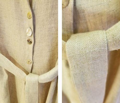 麻混ロング羽織3