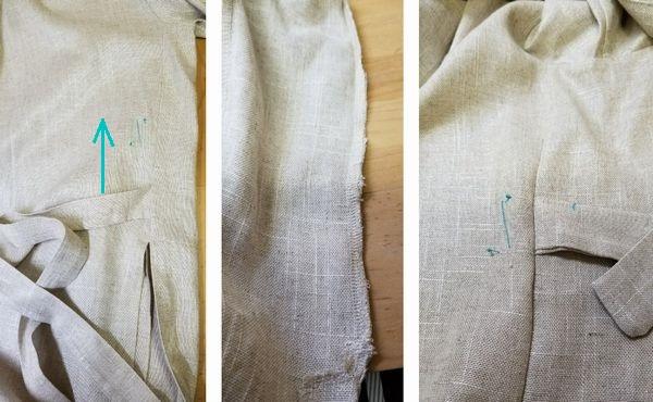 麻混ロング羽織5
