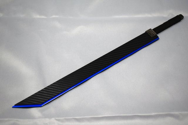 剣カーボン風ブルー