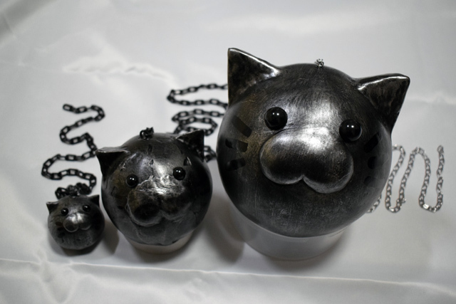 猫鉄球比較画像大中小