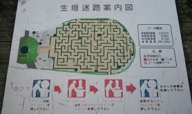 神山森林公園 イルローザの森 生垣迷路案内図