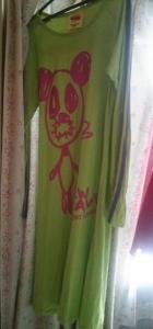SUPER LOVERS 黄緑パンダのワンピース