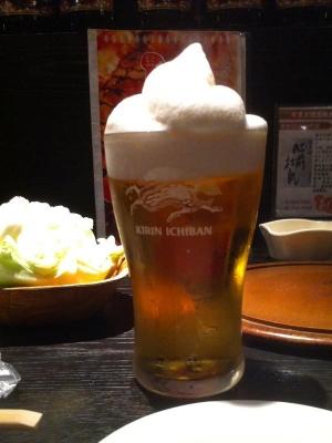 焼肉「あじや」のアイスビール