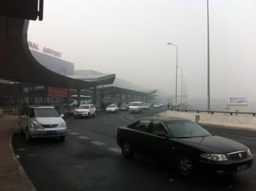 霧の上海・虹橋空港