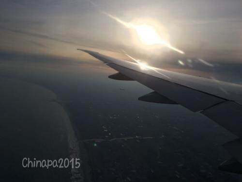 飛行機から見た九十九里浜