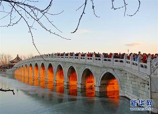 s-)北京・頤和園、17孔橋(光のトンネル