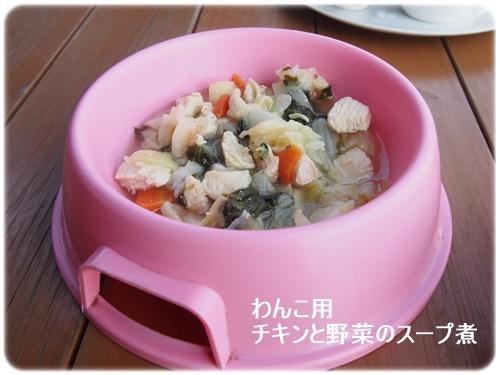 わんこ用チキンと野菜のスープ煮