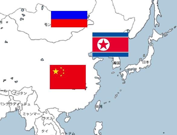 アジア  世界地図 2