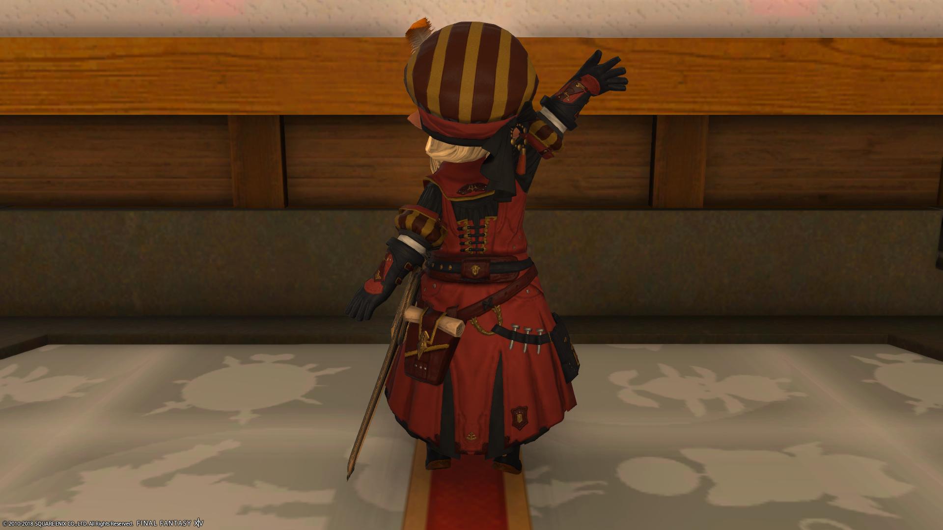 【ミラプリ】黄貨装備【木工師】背面