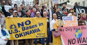 vArFOAub元兵士ら、米軍基地の即時閉鎖要求 ボルティモアで集会