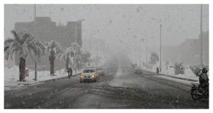 Ouarzazatte_neige_1_1南モロッコで雪