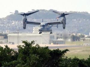 5b3e51ffd4c22d134a237c73e34ff193飛行する米軍普天間飛行場所属のMV22オスプレイ