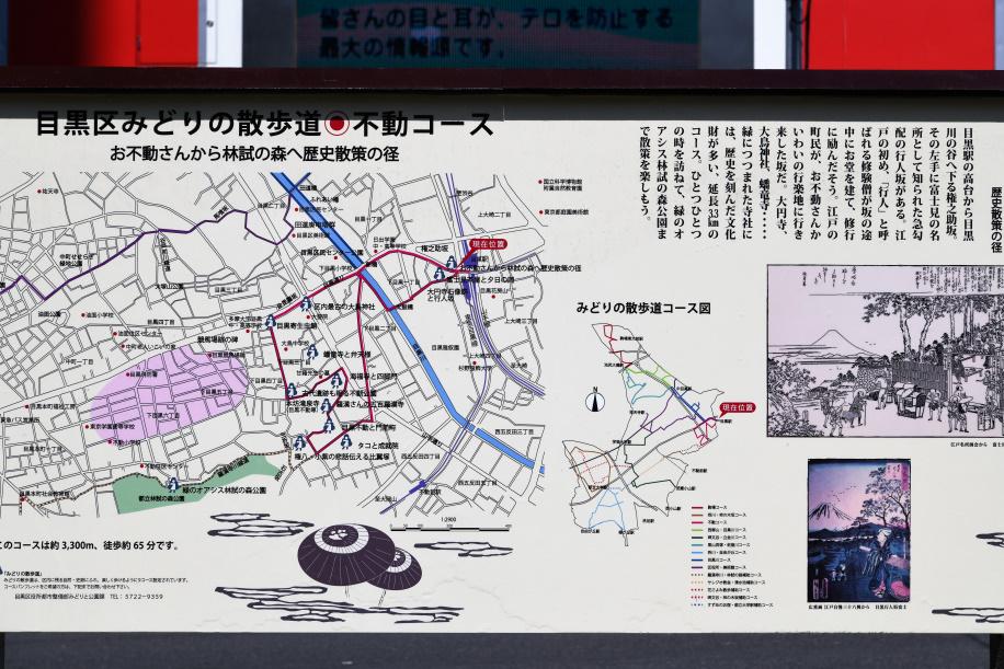 目黒不動尊散歩コース 案内図