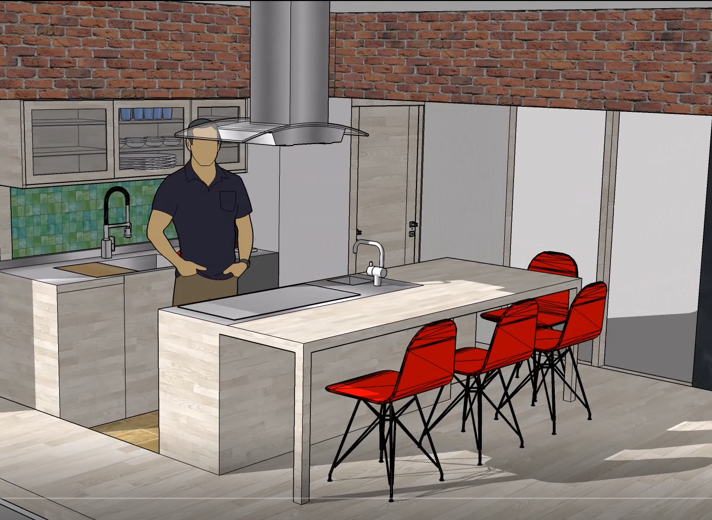 キッチン パース図