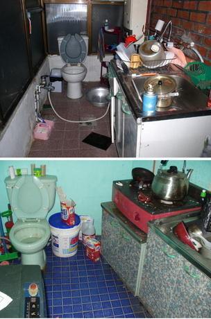 韓国では台所にトイレを設置している家庭も少なくない