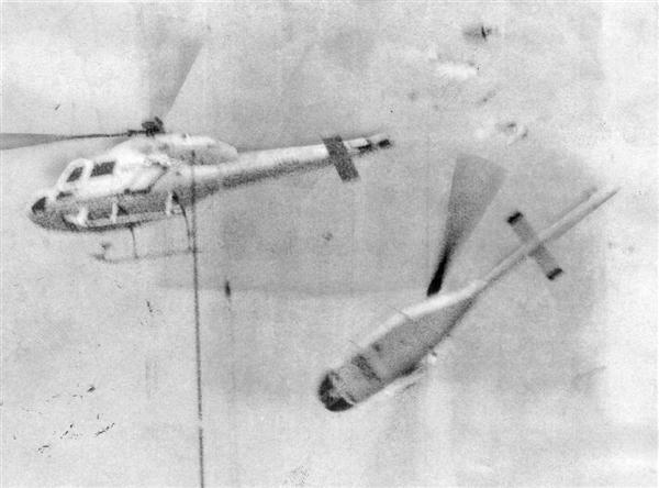 昭和59年(1984年)7月31日兵庫県明石市 毎日新聞社の取材ヘリコプターと朝日放送のチャーター機が空中衝突チャーター機の乗員3人が死亡・ヘリの3人が重傷・地上の1人が軽傷