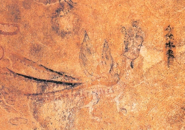 高句麗古墳に描かれた人面鳥「千秋」の壁画