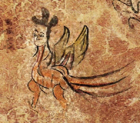 高句麗古墳に描かれた人面鳥「萬歲」の壁画