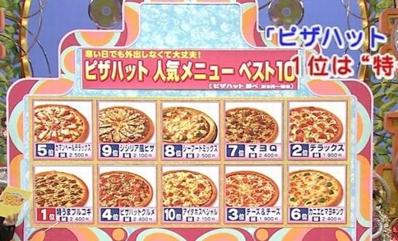 例えば、平成23年(2011年)2月28日放送のフジテレビ「笑っていいとも」の人気ランキングでは、ピザハットの人気ピザで「プルコギピザ」が1位と虚偽の放送をした!