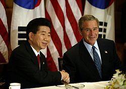 例えば、盧武鉉大統領の米国への特使も「北朝鮮の核武装は日本向けだから心配ない」と述べていた!